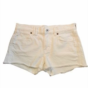 Madewell White Denim Jean Shorts